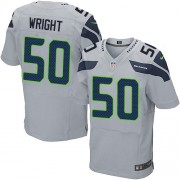 NFL K.J. Wright Seattle Seahawks Elite Alternate Nike Jersey - Grey