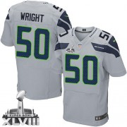 NFL K.J. Wright Seattle Seahawks Elite Alternate Super Bowl XLVIII Nike Jersey - Grey