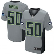 NFL K.J. Wright Seattle Seahawks Elite Nike Jersey - Grey Shadow