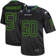 NFL K.J. Wright Seattle Seahawks Elite Nike Jersey - Lights Out Black