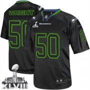 NFL K.J. Wright Seattle Seahawks Elite Super Bowl XLVIII Nike Jersey - Lights Out Black