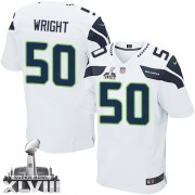 NFL K.J. Wright Seattle Seahawks Elite Road Super Bowl XLVIII Nike Jersey - White