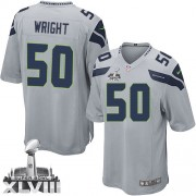 NFL K.J. Wright Seattle Seahawks Game Alternate Super Bowl XLVIII Nike Jersey - Grey