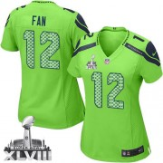 NFL 12th Fan Seattle Seahawks Women's Limited Alternate Super Bowl XLVIII Nike Jersey - Green