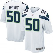 NFL K.J. Wright Seattle Seahawks Game Road Nike Jersey - White