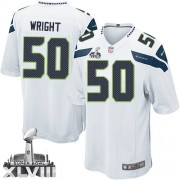 NFL K.J. Wright Seattle Seahawks Game Road Super Bowl XLVIII Nike Jersey - White