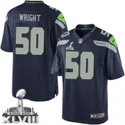 NFL K.J. Wright Seattle Seahawks Limited Team Color Home Super Bowl XLVIII Nike Jersey - Navy Blue