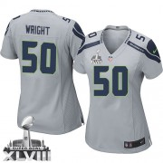 NFL K.J. Wright Seattle Seahawks Women's Elite Alternate Super Bowl XLVIII Nike Jersey - Grey