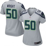 NFL K.J. Wright Seattle Seahawks Women's Game Alternate Nike Jersey - Grey