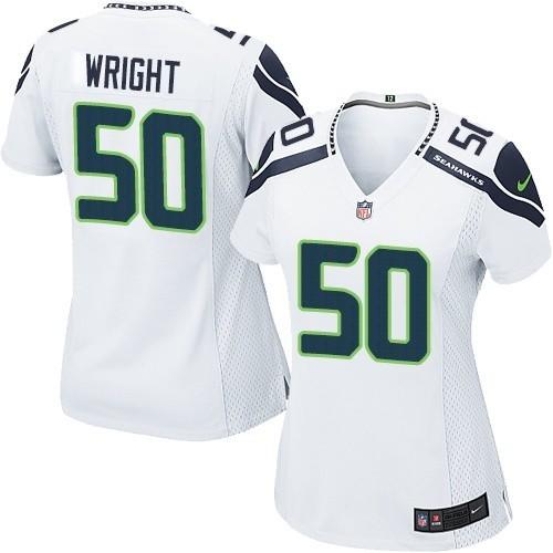 on sale 865a9 f1322 NFL K.J. Wright Seattle Seahawks Women's Game Road Nike Jersey - White