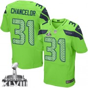 NFL Kam Chancellor Seattle Seahawks Elite Alternate Super Bowl XLVIII Nike Jersey - Green