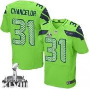 NFL Kam Chancellor Seattle Seahawks Elite Alternate Super Bowl XLVIII Nike Jersey - Green