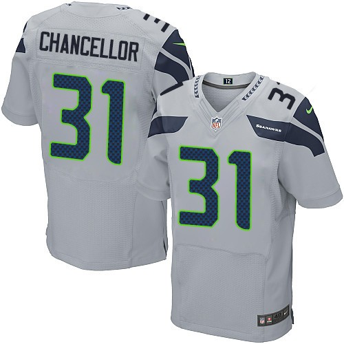 NFL Kam Chancellor Seattle Seahawks Elite Alternate Nike Jersey - Grey
