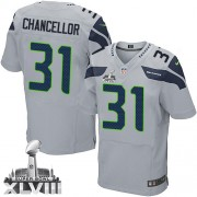 NFL Kam Chancellor Seattle Seahawks Elite Alternate Super Bowl XLVIII Nike Jersey - Grey