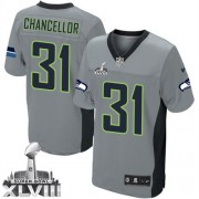 NFL Kam Chancellor Seattle Seahawks Elite Super Bowl XLVIII Nike Jersey - Grey Shadow
