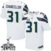 NFL Kam Chancellor Seattle Seahawks Elite Road Super Bowl XLVIII Nike Jersey - White