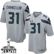 NFL Kam Chancellor Seattle Seahawks Game Alternate Super Bowl XLVIII Nike Jersey - Grey