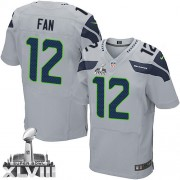 NFL 12th Fan Seattle Seahawks Elite Alternate Super Bowl XLVIII Nike Jersey - Grey