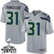 NFL Kam Chancellor Seattle Seahawks Limited Alternate Super Bowl XLVIII Nike Jersey - Grey