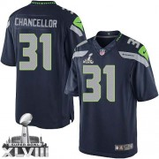 NFL Kam Chancellor Seattle Seahawks Limited Team Color Home Super Bowl XLVIII Nike Jersey - Navy Blue