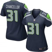 NFL Kam Chancellor Seattle Seahawks Women's Game Team Color Home Nike Jersey - Navy Blue