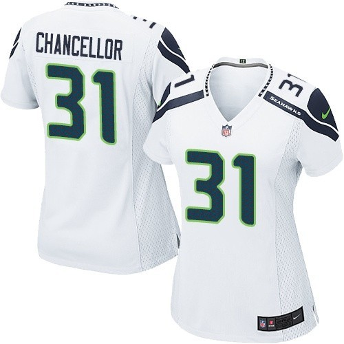 NFL Kam Chancellor Seattle Seahawks Women's Limited Road Nike Jersey - White