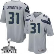 NFL Kam Chancellor Seattle Seahawks Youth Elite Alternate Super Bowl XLVIII Nike Jersey - Grey