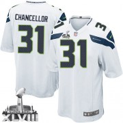 NFL Kam Chancellor Seattle Seahawks Youth Elite Road Super Bowl XLVIII Nike Jersey - White