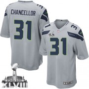 NFL Kam Chancellor Seattle Seahawks Youth Limited Alternate Super Bowl XLVIII Nike Jersey - Grey