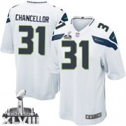 NFL Kam Chancellor Seattle Seahawks Youth Limited Road Super Bowl XLVIII Nike Jersey - White
