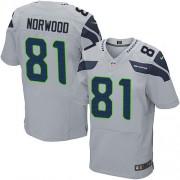NFL Kevin Norwood Seattle Seahawks Elite Alternate Nike Jersey - Grey
