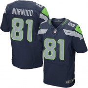 NFL Kevin Norwood Seattle Seahawks Elite Team Color Home Nike Jersey - Navy Blue