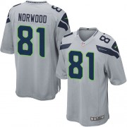 NFL Kevin Norwood Seattle Seahawks Game Alternate Nike Jersey - Grey