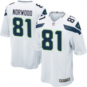 NFL Kevin Norwood Seattle Seahawks Game Road Nike Jersey - White