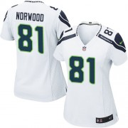 NFL Kevin Norwood Seattle Seahawks Women's Limited Road Nike Jersey - White