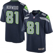NFL Kevin Norwood Seattle Seahawks Youth Elite Team Color Home Nike Jersey - Navy Blue