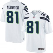 NFL Kevin Norwood Seattle Seahawks Youth Elite Road Nike Jersey - White