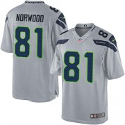 NFL Kevin Norwood Seattle Seahawks Youth Limited Alternate Nike Jersey - Grey