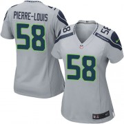 NFL Kevin Pierre-Louis Seattle Seahawks Women's Game Alternate Nike Jersey - Grey