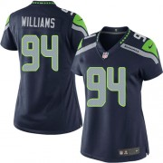 NFL Kevin Williams Seattle Seahawks Women's Elite Team Color Home Nike Jersey - Navy Blue