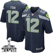 NFL 12th Fan Seattle Seahawks Youth Elite Team Color Home Super Bowl XLVIII Nike Jersey - Navy Blue