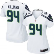 NFL Kevin Williams Seattle Seahawks Women's Game Road Nike Jersey - White