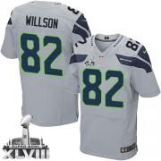 NFL Luke Willson Seattle Seahawks Elite Alternate Super Bowl XLVIII Nike Jersey - Grey