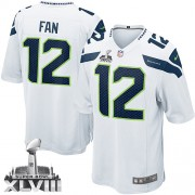 NFL 12th Fan Seattle Seahawks Youth Elite Road Super Bowl XLVIII Nike Jersey - White