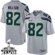 NFL Luke Willson Seattle Seahawks Limited Alternate Super Bowl XLVIII Nike Jersey - Grey