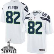 NFL Luke Willson Seattle Seahawks Limited Road Super Bowl XLVIII Nike Jersey - White