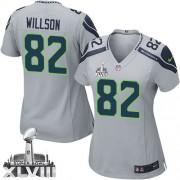 NFL Luke Willson Seattle Seahawks Women's Elite Alternate Super Bowl XLVIII Nike Jersey - Grey