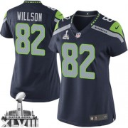 NFL Luke Willson Seattle Seahawks Women's Elite Team Color Home Super Bowl XLVIII Nike Jersey - Navy Blue