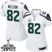 NFL Luke Willson Seattle Seahawks Women's Elite Road Super Bowl XLVIII Nike Jersey - White