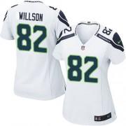 NFL Luke Willson Seattle Seahawks Women's Game Road Nike Jersey - White